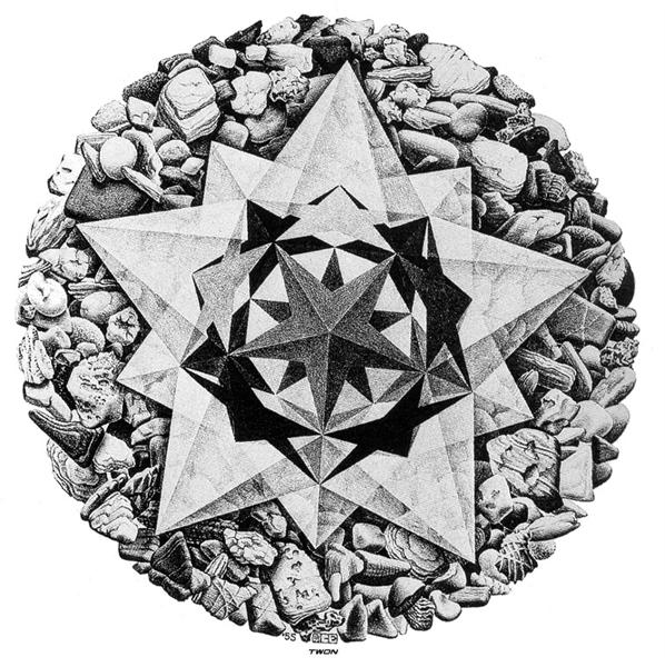 Order and Chaos II (Compass Card), 1955 - M.C. Escher