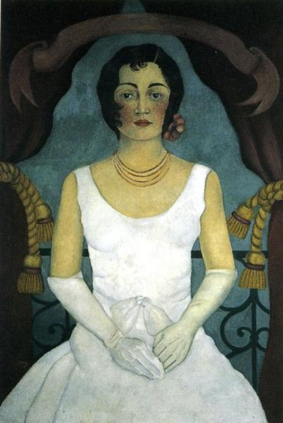 Portrait of a Woman in White, 1930 - Frida Kahlo