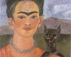 Self Portrait with a Portrait of Diego on the Breast and Maria Between the Eyebrows - Frida Kahlo