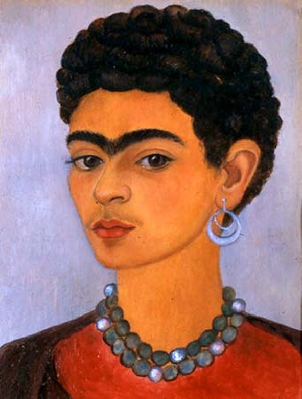 haircut to me self portrait with curly hair 1935 frida kahlo 1935