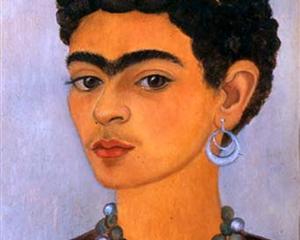 Self Portrait with Curly Hair - Frida Kahlo