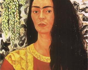 Self Portrait with Loose Hair - Frida Kahlo