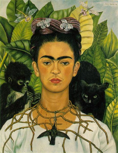 Self Portrait with Necklace of Thorns, 1940 - Frida Kahlo