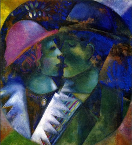 Green Lovers, 1915 - Marc Chagall - WikiArt.org