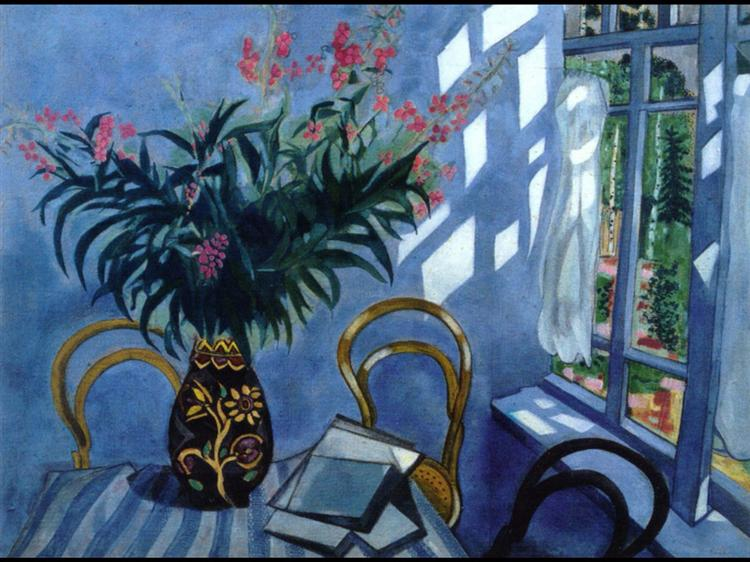 Interior with Flowers, 1918 - Marc Chagall