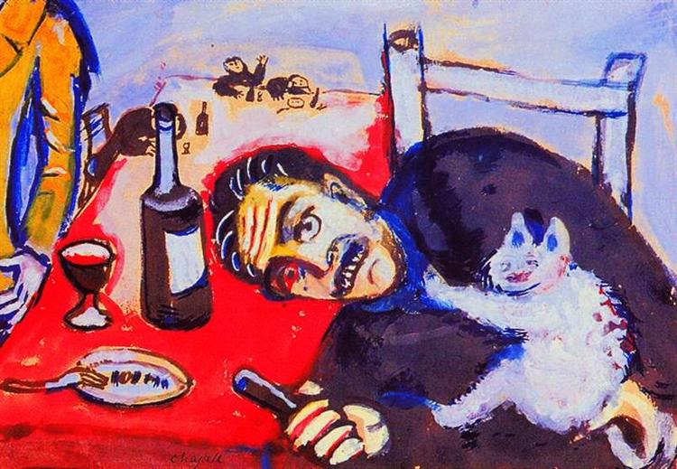 Man at table, 1911 - Marc Chagall