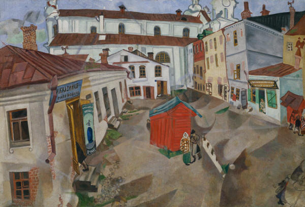 Marketplace In Vitebsk 1917 Marc Chagall Wikiart Org