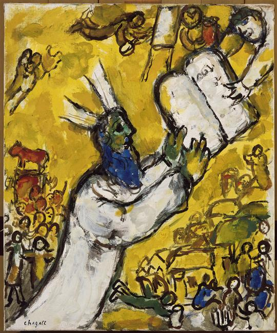 Image result for chagall moses