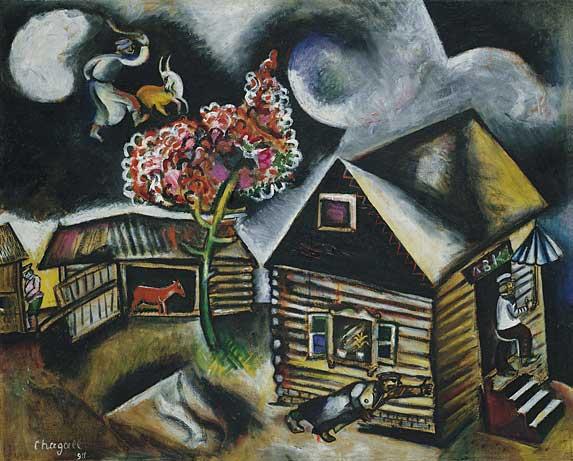 Rain - Marc Chagall