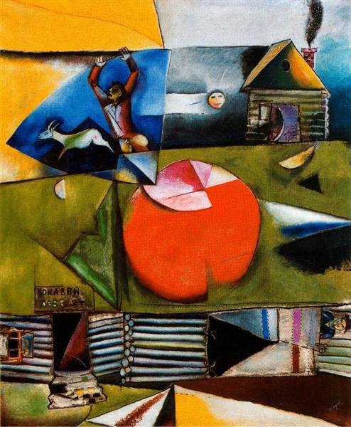 Russian Village Under the Moon - Chagall Marc