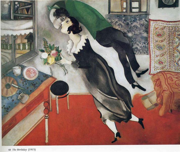 The Birthday, 1915 - Marc Chagall
