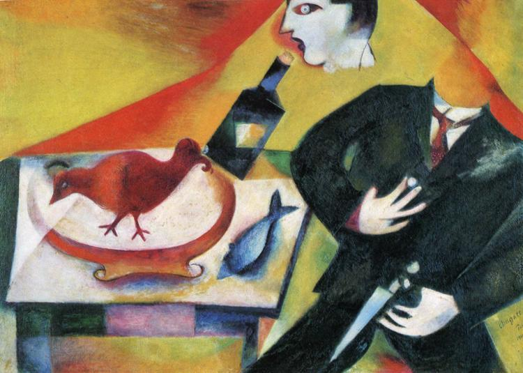 The Drunkard, 1912 - Marc Chagall