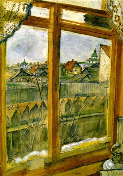 View from a Window (Vitebsk), 1908 - Marc Chagall