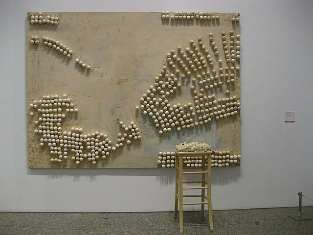 Panel with Eggs and Stool, 1966