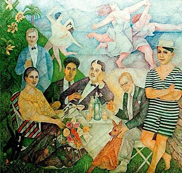 Homage to Friends from Montparnasse, 1962 - Marevna (Marie Vorobieff)