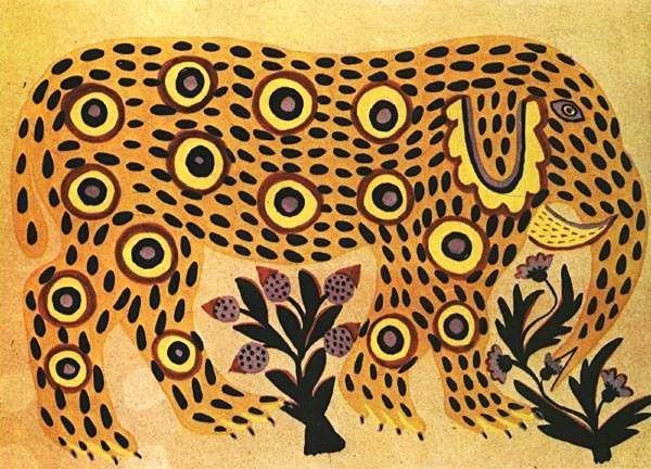 Elephant, 1937 - Maria Primachenko