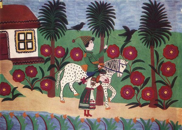 Halia and cossack, 1947 - Maria Primachenko