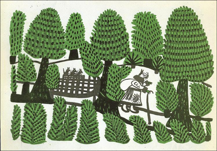 Rat on a journey, 1963 - Maria Primachenko