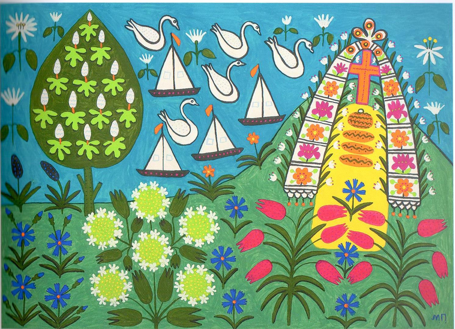 dear-taras-hryhorovych-whatever-you-see-here-is-yours, Maria Prymachenko, ideas for Marimekko, folk art, naive