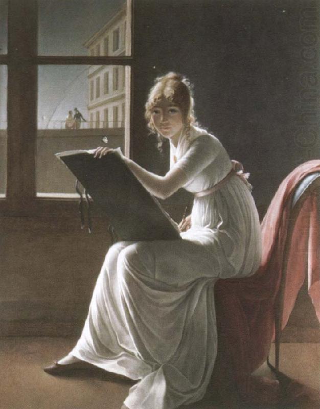 Portrait of mademoiselle Charlotte du Val d'Ognes