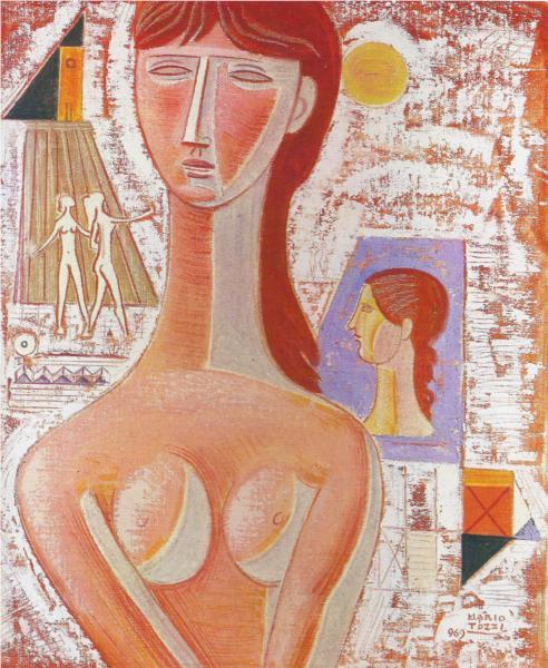 Busto di Fanciulla e Figure - Mario Tozzi