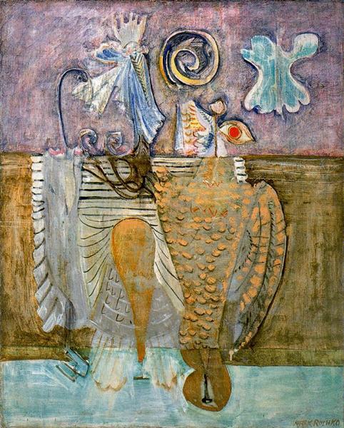 Hierarchical Birds, 1944 - Mark Rothko