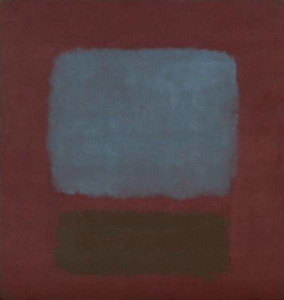 No. 37/No. 19 (Slate Blue and Brown on Plum), 1958 - Mark Rothko