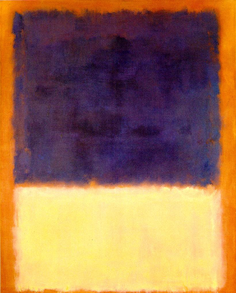 Red orange tan and purple 1954 mark rothko for Purple and yellow painting