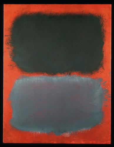 Untitled (Gray, Gray on Red) - Mark Rothko