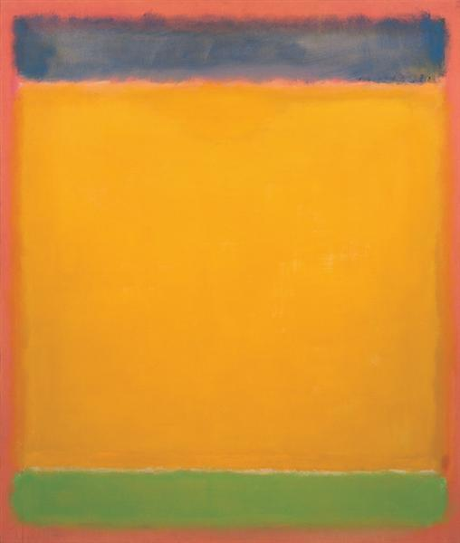 United (Blue, Yellow, Green on Red), 1954 - Mark Rothko