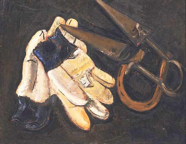 Gardener's Gloves and Shears, 1937 - Marsden Hartley