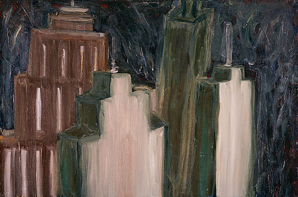 Untitled (Skyscrapers), 1980 - Martha Diamond