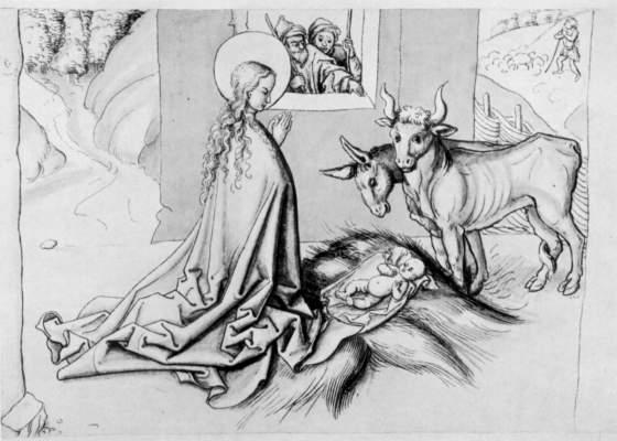 Adoration of the Child - Martin Schongauer