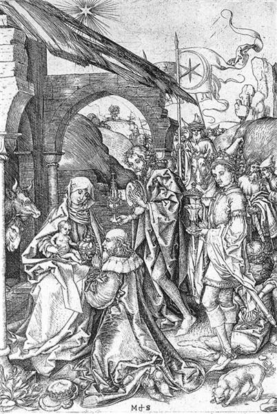 Adoration of the Magi, 1475 - Martin Schongauer