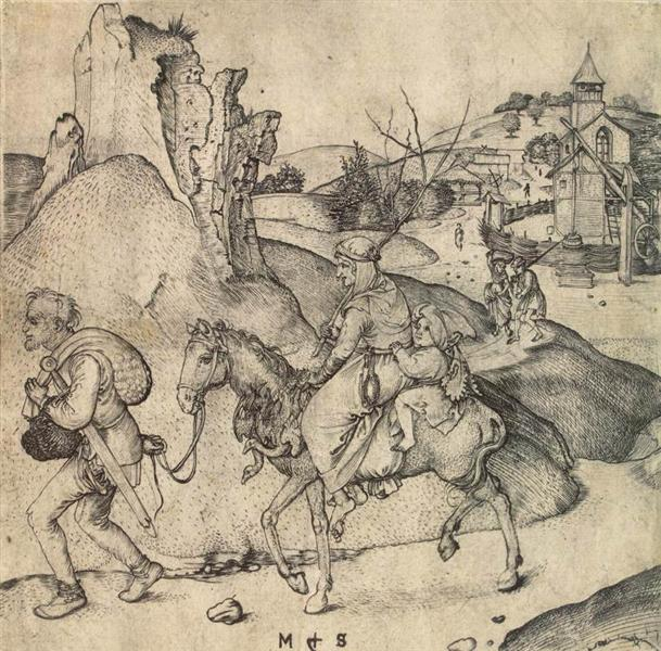 Peasant Family Going to the Market, 1473 - 1475 - Martin Schongauer