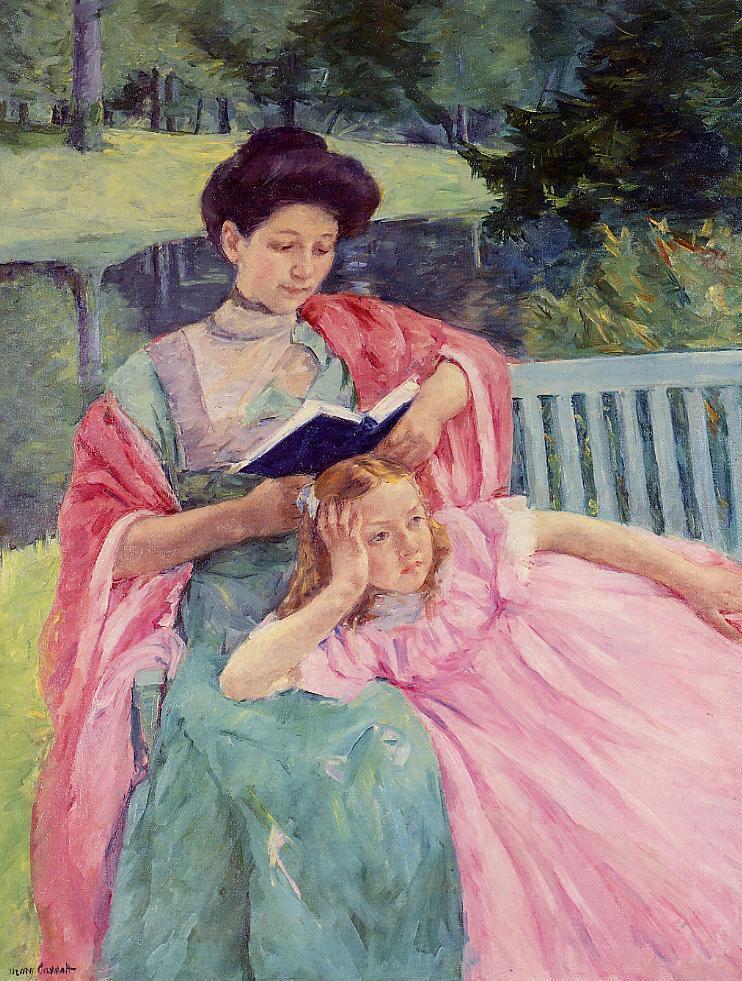 Auguste Reading to Her Daughter, 1910 - Mary Cassatt - WikiArt.org