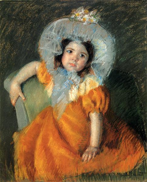 Child In Orange Dress, 1902 - Mary Cassatt