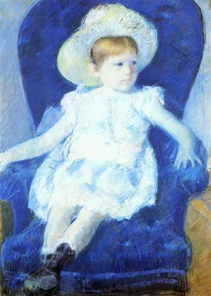 Elsie in a Blue Chair, 1880 - Mary Cassatt