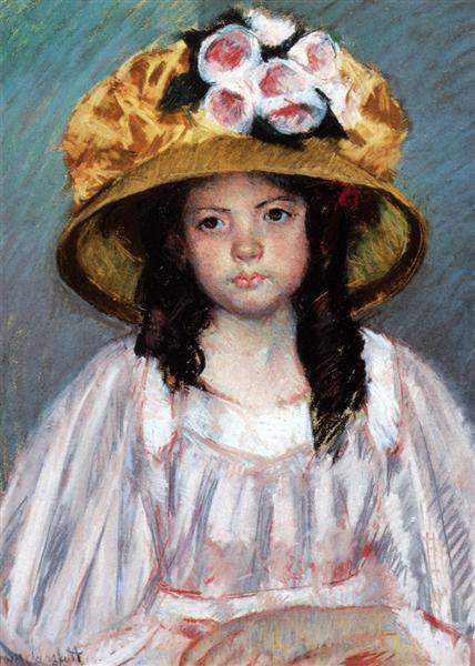 Girl In Large Hat, c.1908 - Mary Cassatt
