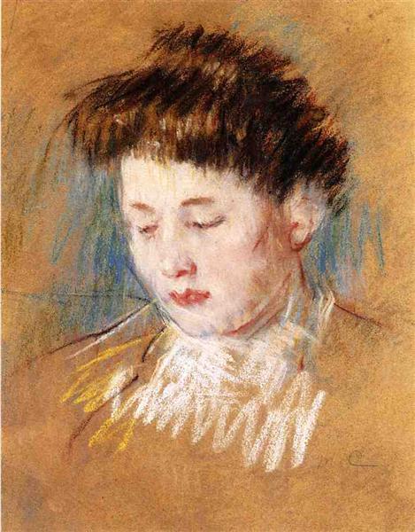 Head of Julie, Looking Down, c.1909 - Mary Cassatt
