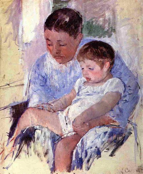 Jenny and Her Sleepy Child, c.1891 - Mary Cassatt