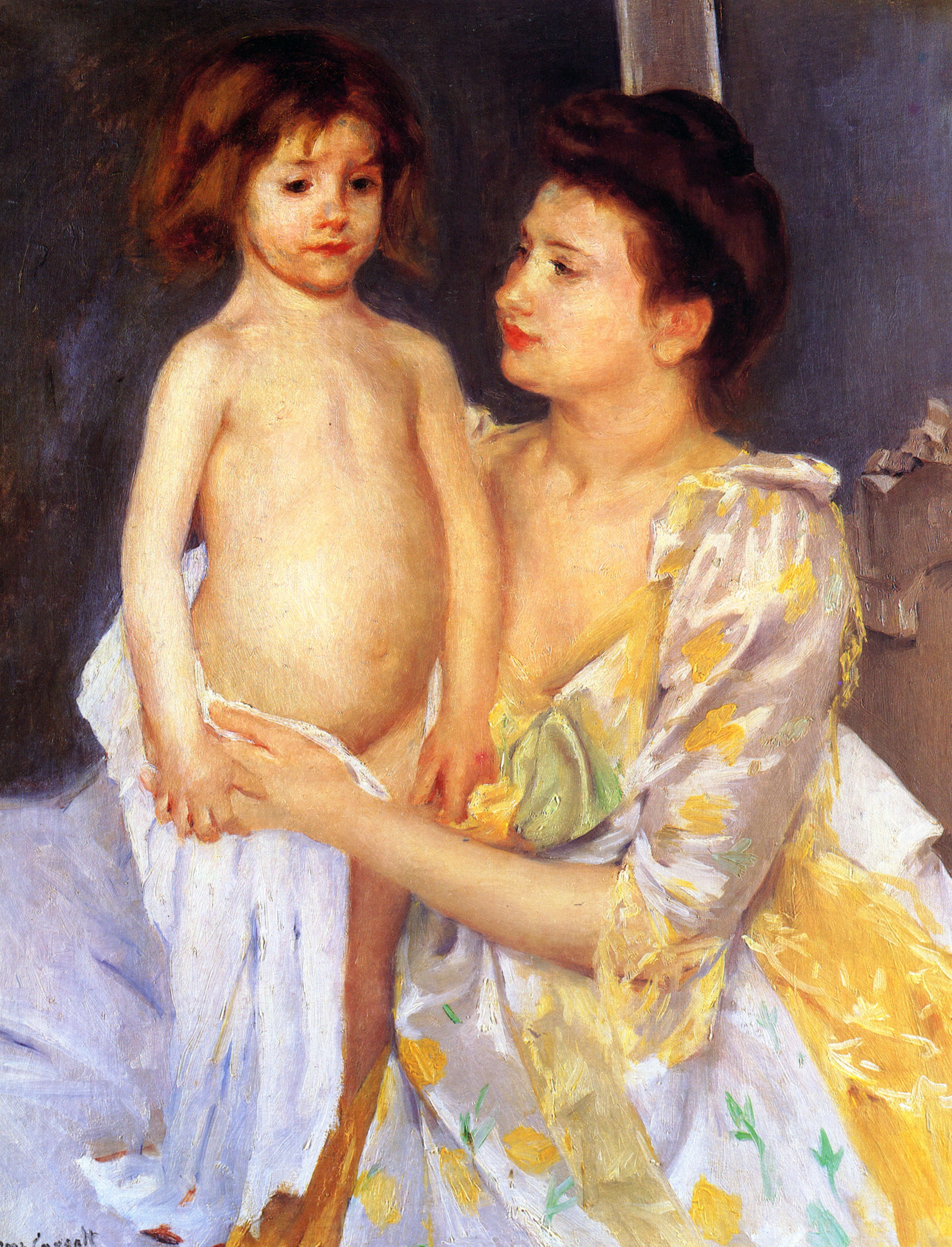 Marry Cassatt - Page 2 Jules-being-dried-by-his-mother-1900
