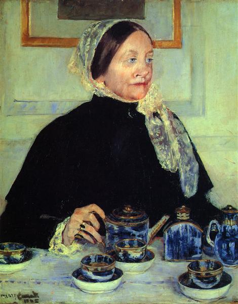Lady at the Tea Table, 1885 - Mary Cassatt