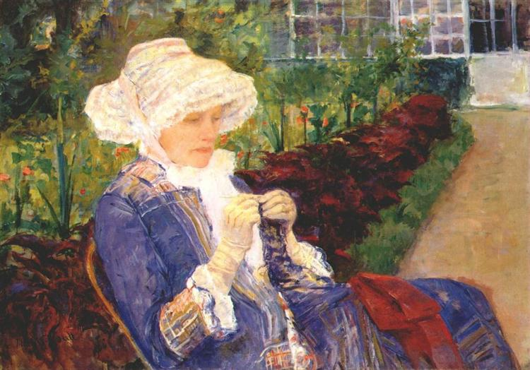 Lydia crocheting in the garden at marly, 1880 - Mary Cassatt