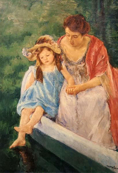 Mother And Child In A Boat, c.1909 - Mary Cassatt