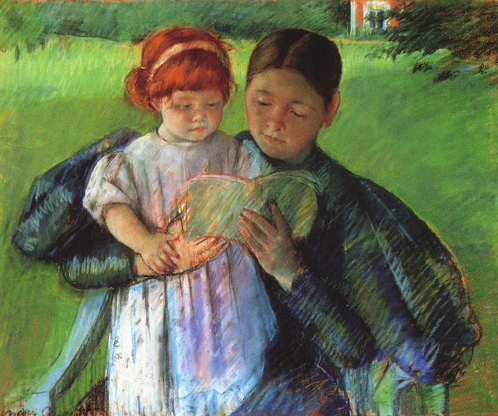 Nurse Reading to a Little Girl, 1895 - Mary Cassatt