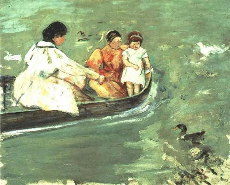 On the Water, 1895 - Mary Cassatt