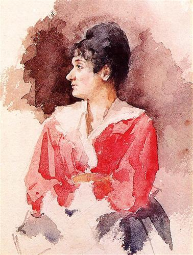 Profile of an Italian Woman - Mary Cassatt
