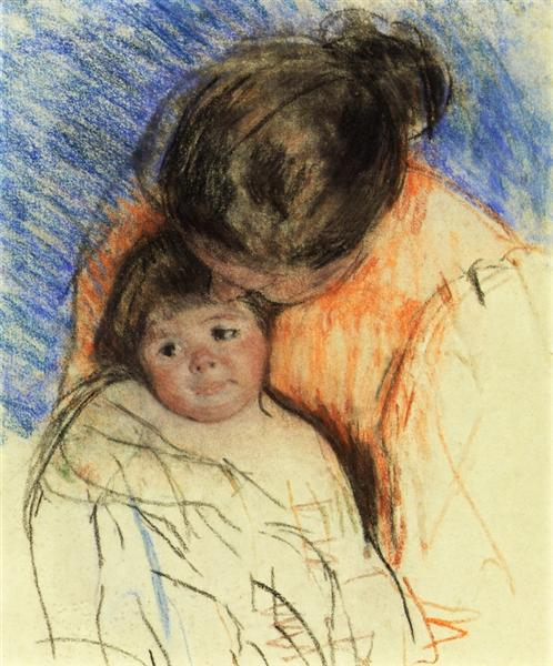 Sketch of Mother Looking down at Thomas, c.1905 - 1915 - Mary Cassatt