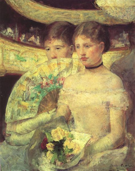 The Loge, c.1880 - Mary Cassatt